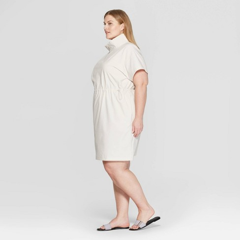 903500357d306a Women s Plus Size Short Sleeve Collared Tunic Dress - Prologue™ White