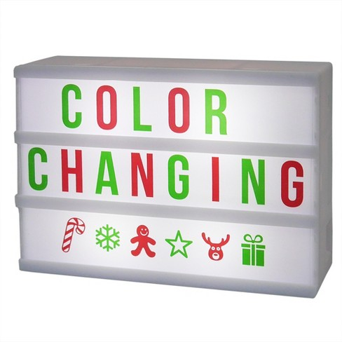 Battery Operated Mini LED Light Box Red & Green Letter Cards