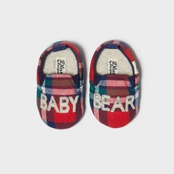 Baby dluxe by dearfoams Baby Bear Bootie Slippers - Red