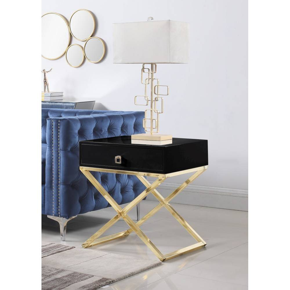 Rochester Side Table Black - Chic Home Design was $359.99 now $215.99 (40.0% off)