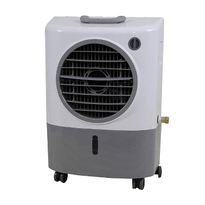 Hessaire Outdoor Portable 500 Square Feet Evaporative Cooler Humidifier with 3 Fan Speeds and Remote Control System - For Outdoors Use Only