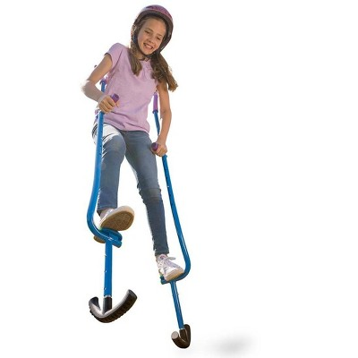 """HearthSong Adjustable Ergonomic Amazing Feats Kids Stilts with Treaded Foot Rests, Arced Feet, and Foam Handles, Adjusts 51""""-79"""", Holds Up To 250 Lbs."""