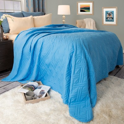 Solid Color Bed Quilt (King)Blue - Yorkshire Home