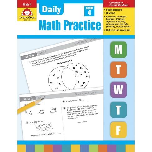 Evan Moor Daily Math Practice, Grade 4