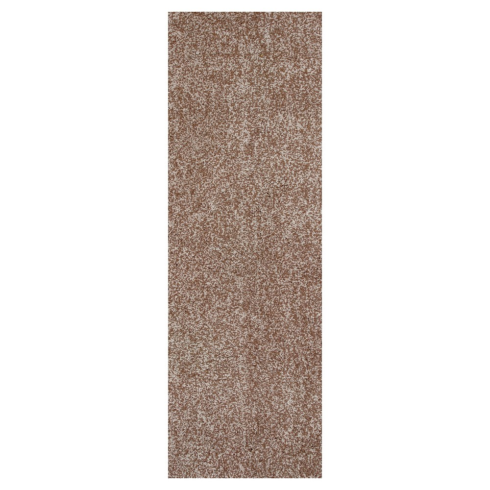 "Image of ""Beige Solid Woven Runner 2'3""""x7'6"""" - Kas Rugs"""