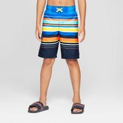 Boys' Multi Stripe Swim Trunks - Cat & Jack™ Blue