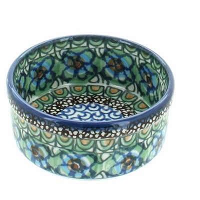 Blue Rose Polish Pottery Mardi Gras Small Ramekin