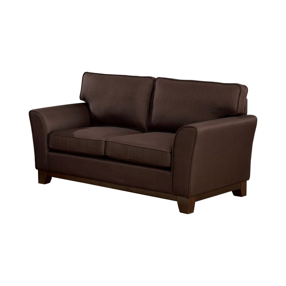 Image of Nichols Flared Arms Loveseat Brown - ioHOMES