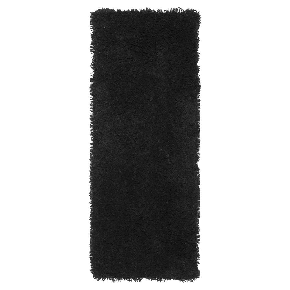 Black Solid Tufted Runner - (2'3x12') - Safavieh