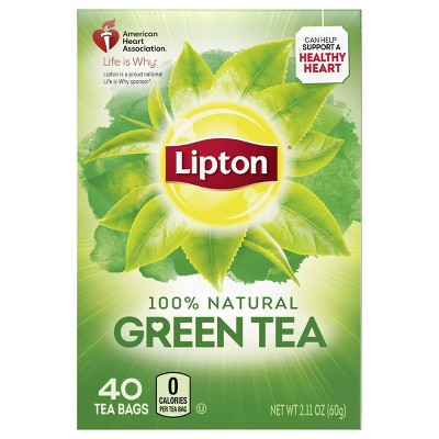 Lipton Green Natural Tea Bags - 40ct
