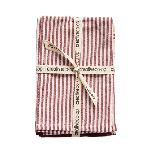 Cotton Tea Towels Set of 3 - Red - 3R Studios - image 1 of 2