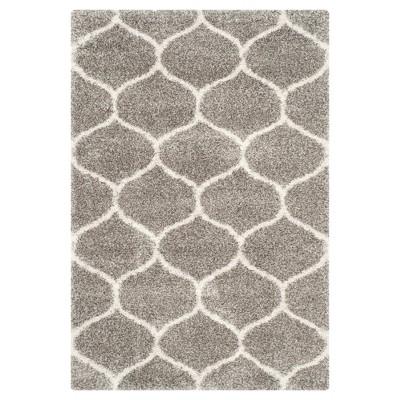 Hudson Shag Rug - Gray/Ivory - (6'X9')- Safavieh