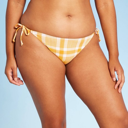 Juniors' Textured String Bikini Bottom - Xhilaration™ - image 1 of 4