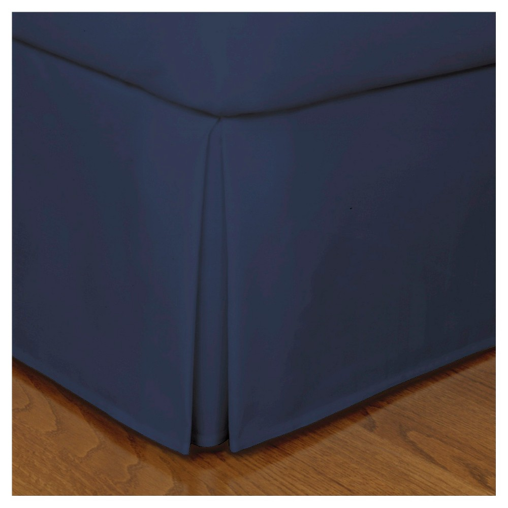Image of Navy (Blue) Tailored Microfiber 14 Bed Skirt (King)
