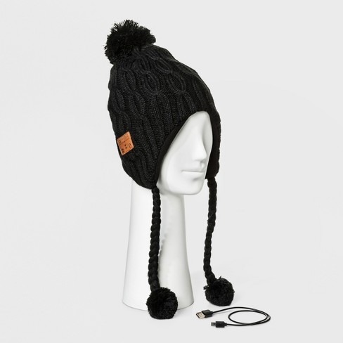 34324bc3c85 Accessory Innovation Bluetooth Fleece Line Laplander Beanie - Black   Target