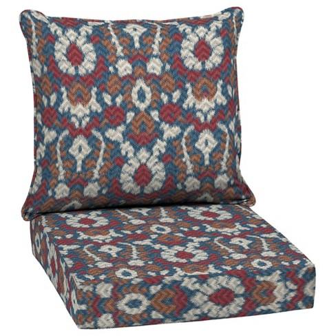 DriWeave Phyllis Ikat Deep Seat Outdoor Cushion Set - Arden - image 1 of 2