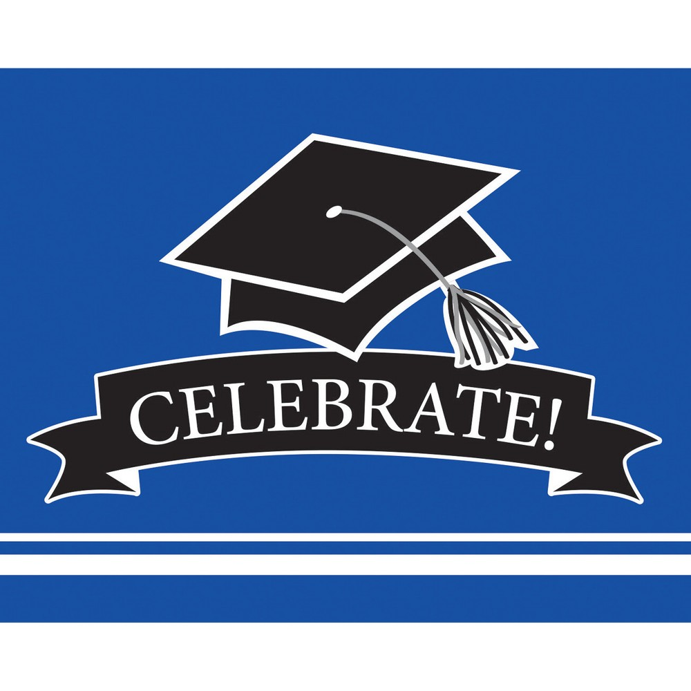 Image of 25ct Blue Graduation School Invitations