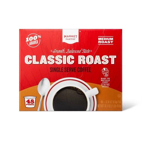 Premium Roast Medium Roast Coffee - Single Serve Pods - 48ct - Market Pantry™ - image 1 of 3