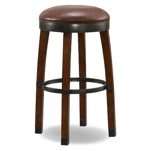 Set of 2 Counter And Bar Stools Brown - Leick Home - image 1 of 5