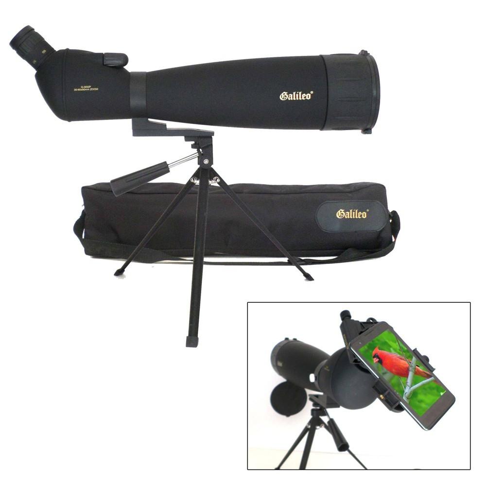 Galileo G-90SP 90mm x 90mm Zoom Spotting Scope - Black Galileo G-90SP 90mm x 90mm Zoom Spotting Scope - Black