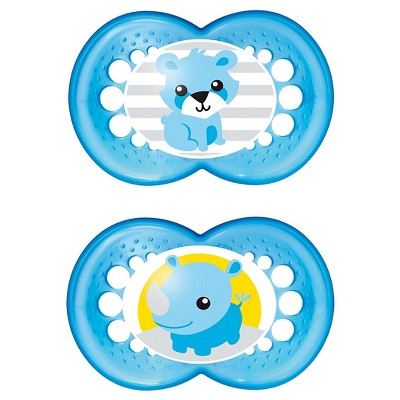MAM Original Orthodontic Pacifier, 16+ Months, 2ct (Colors May Vary)