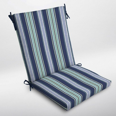 Aurora Stripe Clean Finish Outdoor Chair Cushion Sapphire - Arden Selections - image 1 of 2