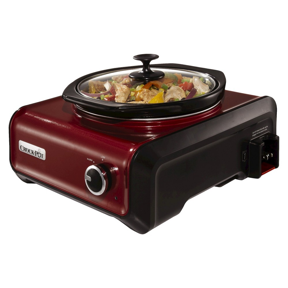 Crock-Pot Hook Up Connectable Entertaining System, 2-Quart, Metallic Red, SCCPMD2-R