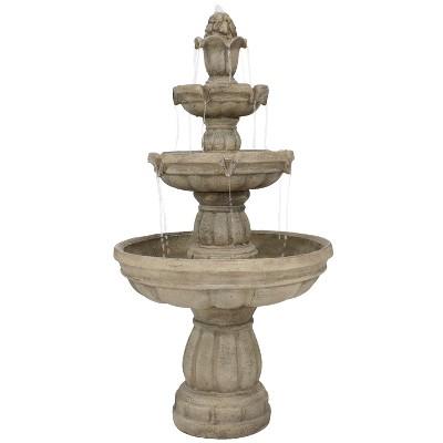 """48"""" 3-Tier Outdoor Water Fountain - Sunnydaze Decor"""