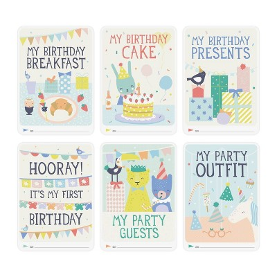 Milestone Baby's First Birthday Photo Cards - 6pc