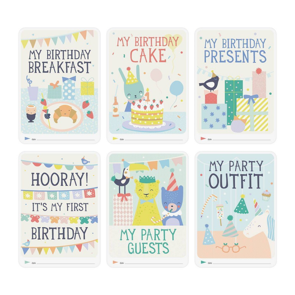 Image of Milestone Baby's First Birthday Photo Cards - 6pc