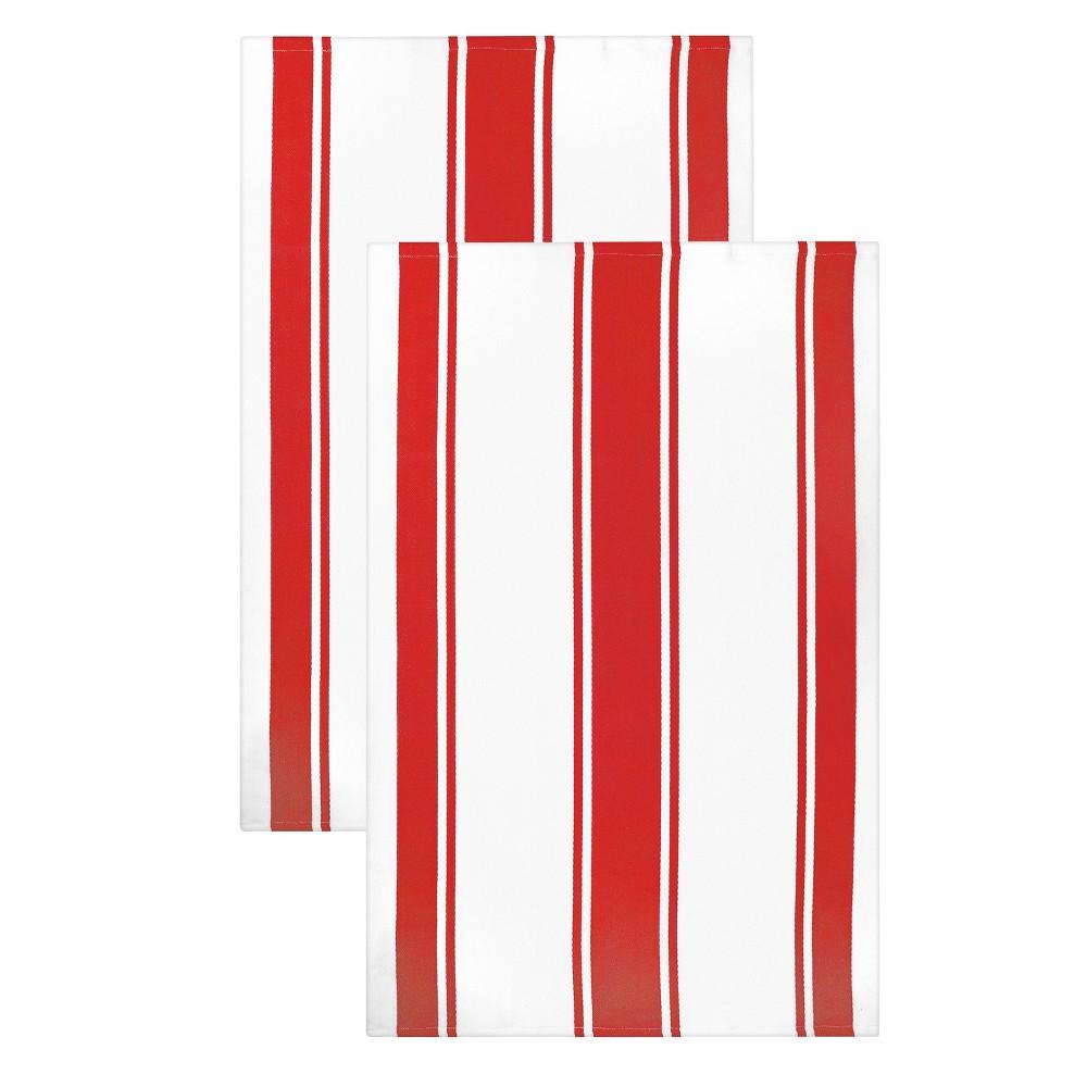 2pk Kitchen Towels Red Mu Kitchen