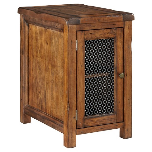 Tamonie Chair Side End Table Medium Brown Signature Design By Ashley