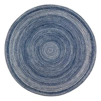 Epona Braided Round Blue Rug - Anji Mountain®