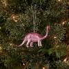 Glitter Brontosaurus Dinosaur Christmas Tree Ornament Pink - Wondershop™ - image 2 of 3