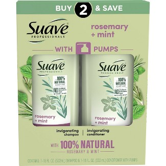 Sauve Professionals Invigorating Shampoo And Conditioner For Dry And Damaged Hair Rosemary And Mint 18 Fl Oz/2ct : Target