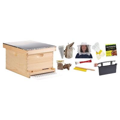 Little Giant 10-Frame Deluxe Beginner Backyard Beekeeping Hive Starter Kit