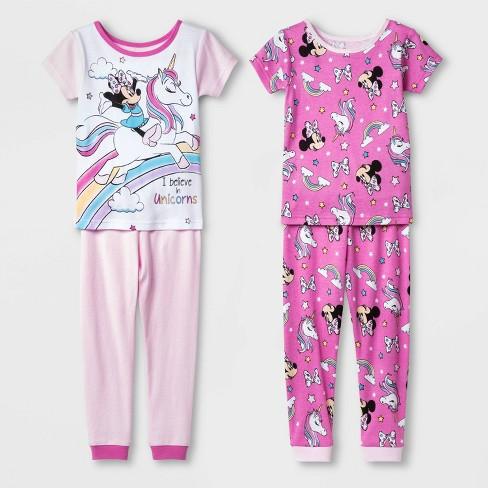 Disney Minnie Mouse Baby Girls 2 Piece Pajamas Sleepwear Set