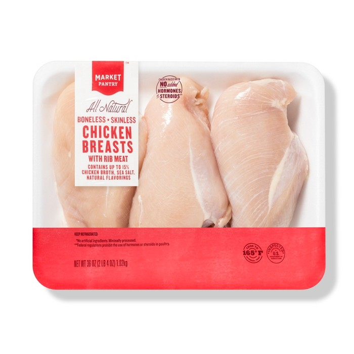 Boneless Skinless Chicken Breasts - 2.25lb - Market Pantry™ - image 1 of 1
