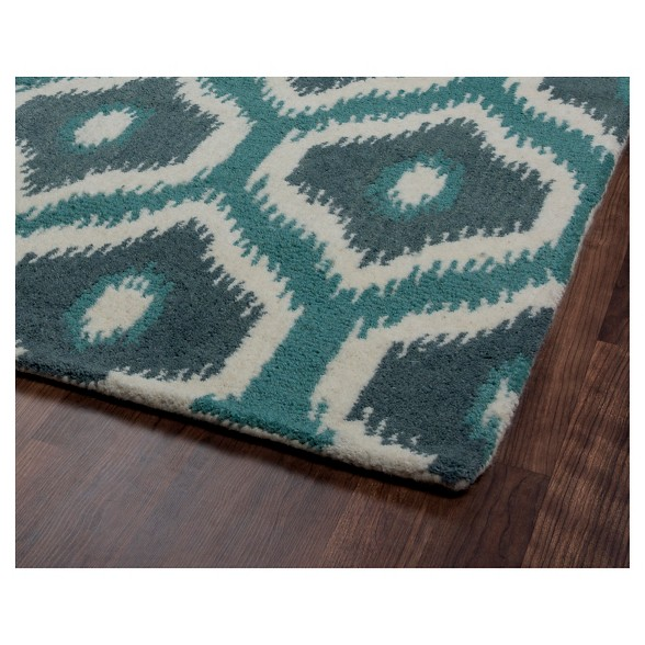 Rizzy Home Rockport Collection Hand Tufted Blended Wool Runner Rug