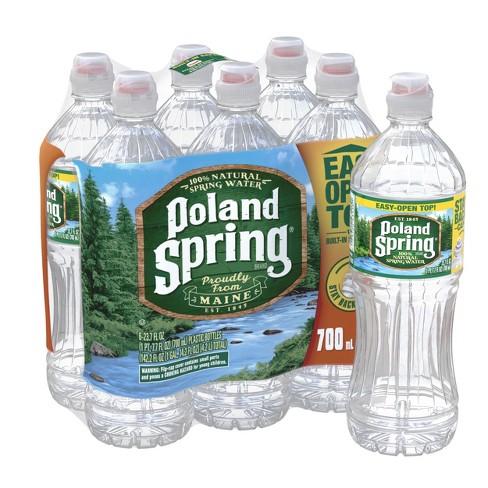 Poland Spring Brand 100% Natural Spring Water - 6pk/23.7 fl oz Sport Cap Bottles - image 1 of 4
