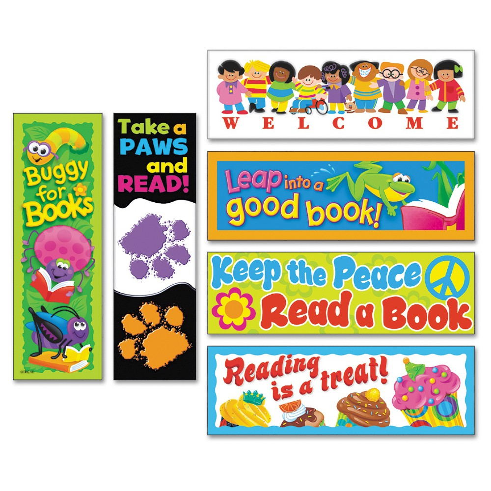 Trend Bookmark Combo Packs, Celebrate Reading Variety #1, 2w x 6h, 216/Pack, Multi-Colored