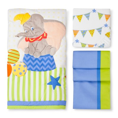 Dumbo 3pc Crib Bedding Set