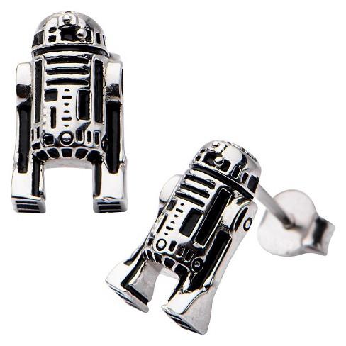 Women's Star Wars' R2-D2 925 Sterling Silver Stud Earrings - image 1 of 1