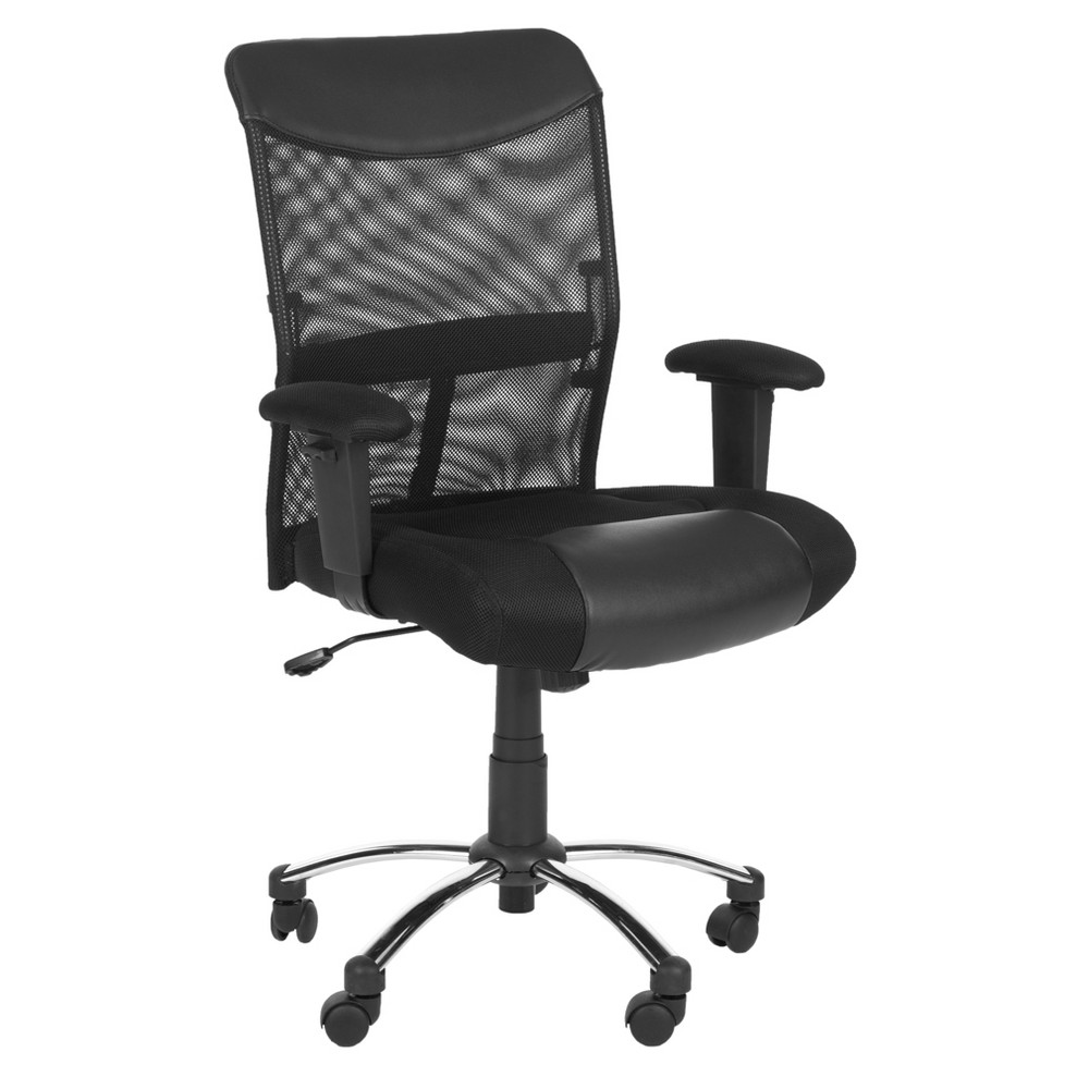 Bernard Desk Chair Black - Safavieh