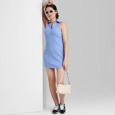 Women's Sleeveless Knit Bodycon Polo Dress - Wild Fable™