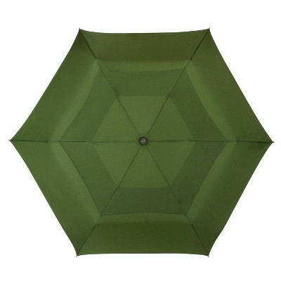Cirra by ShedRain Air Vent Auto Open Auto Close Compact Umbrella - Green Olive