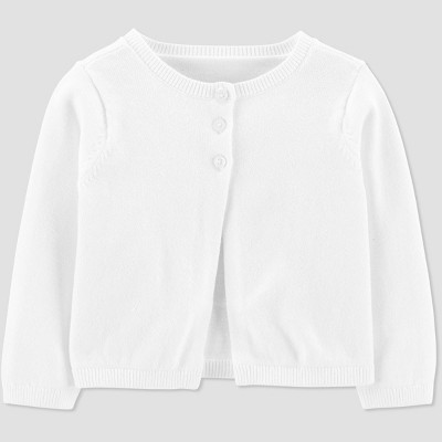 Baby Girls' Cardigan - Just One You® made by carter's White 9M