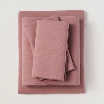 King Jersey Solid Sheet Set Rose - Casaluna™