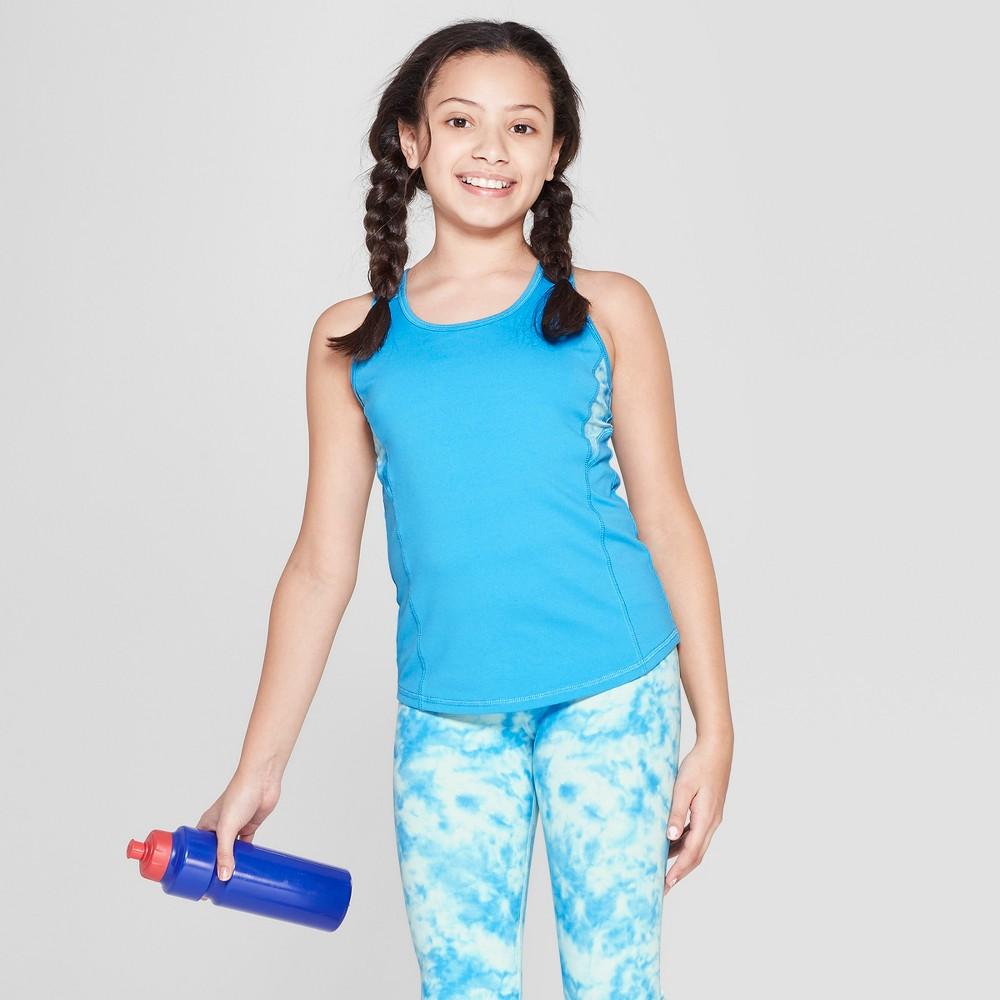 56590e89d10 Umbro Girls Tie Dye Mesh Back Performance Tank Malibu Blue XS
