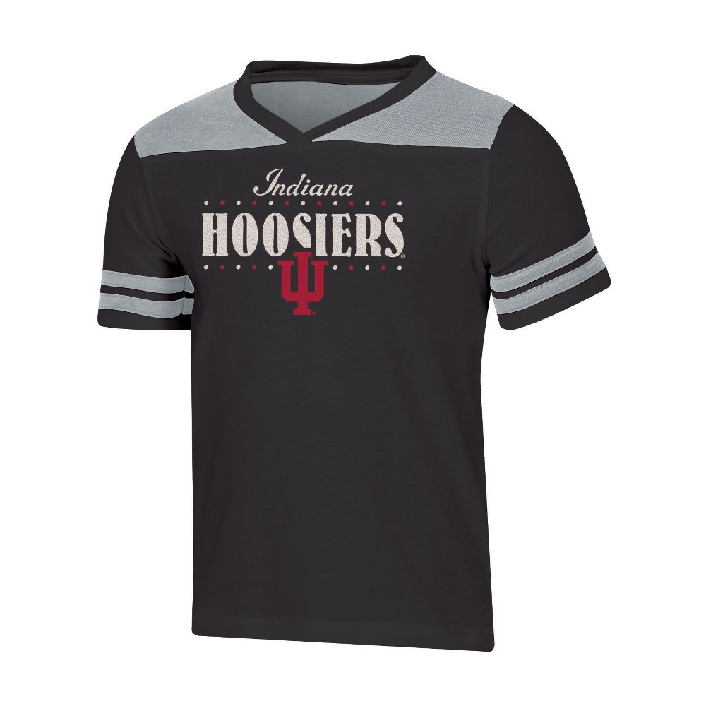 NCAA Girls' Heather Fashion T-Shirt Indiana Hoosiers - XS, Multicolored
